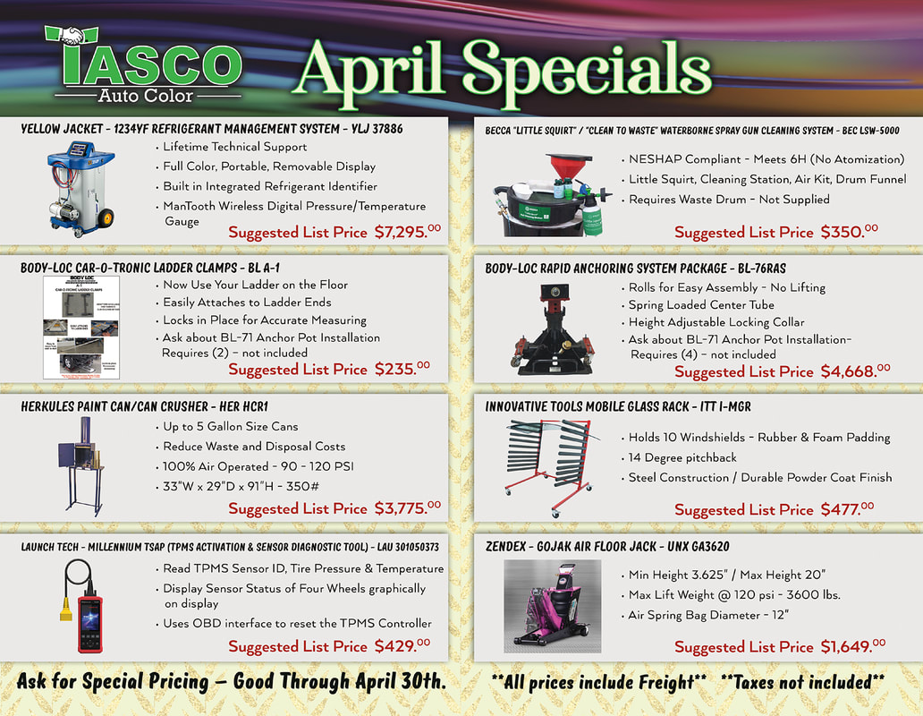 Tasco April Specials