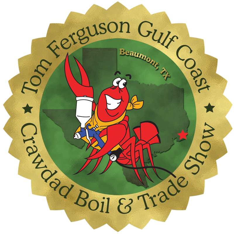 13th Annual Tom Ferguson Tasco Auto Color Gulf Coast Crawdad Boil Emblem